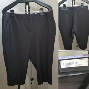 Worthington Sz 14P * Modern fit Black Dress Capris
